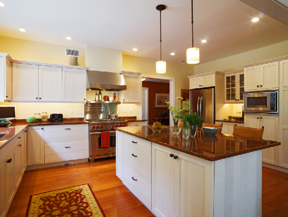 Warm and comfortable kitchen