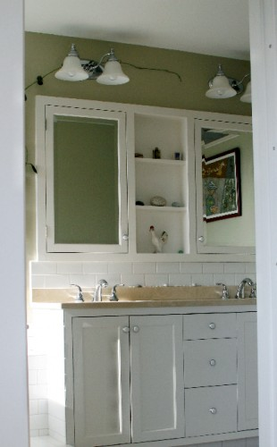 Custom Medicine Cabinet & Vanity by Chuck Rule.