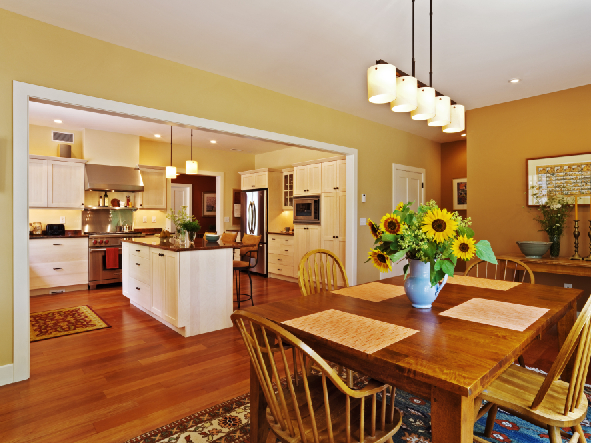 Kitchens open to dining room design a room interiors for Open kitchen dining room and living room design ideas
